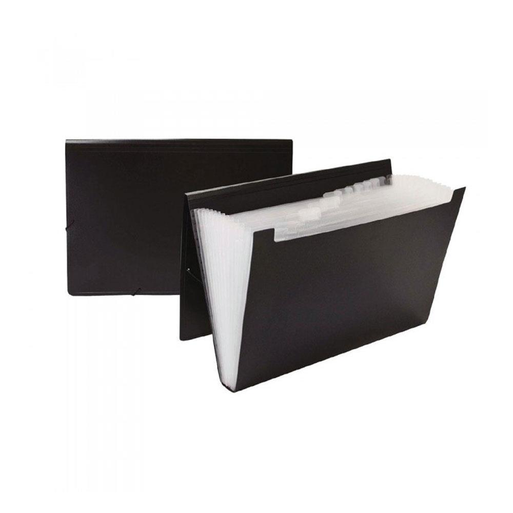 Γραμματιοθήκη Α4 Premium13θ μαύρη