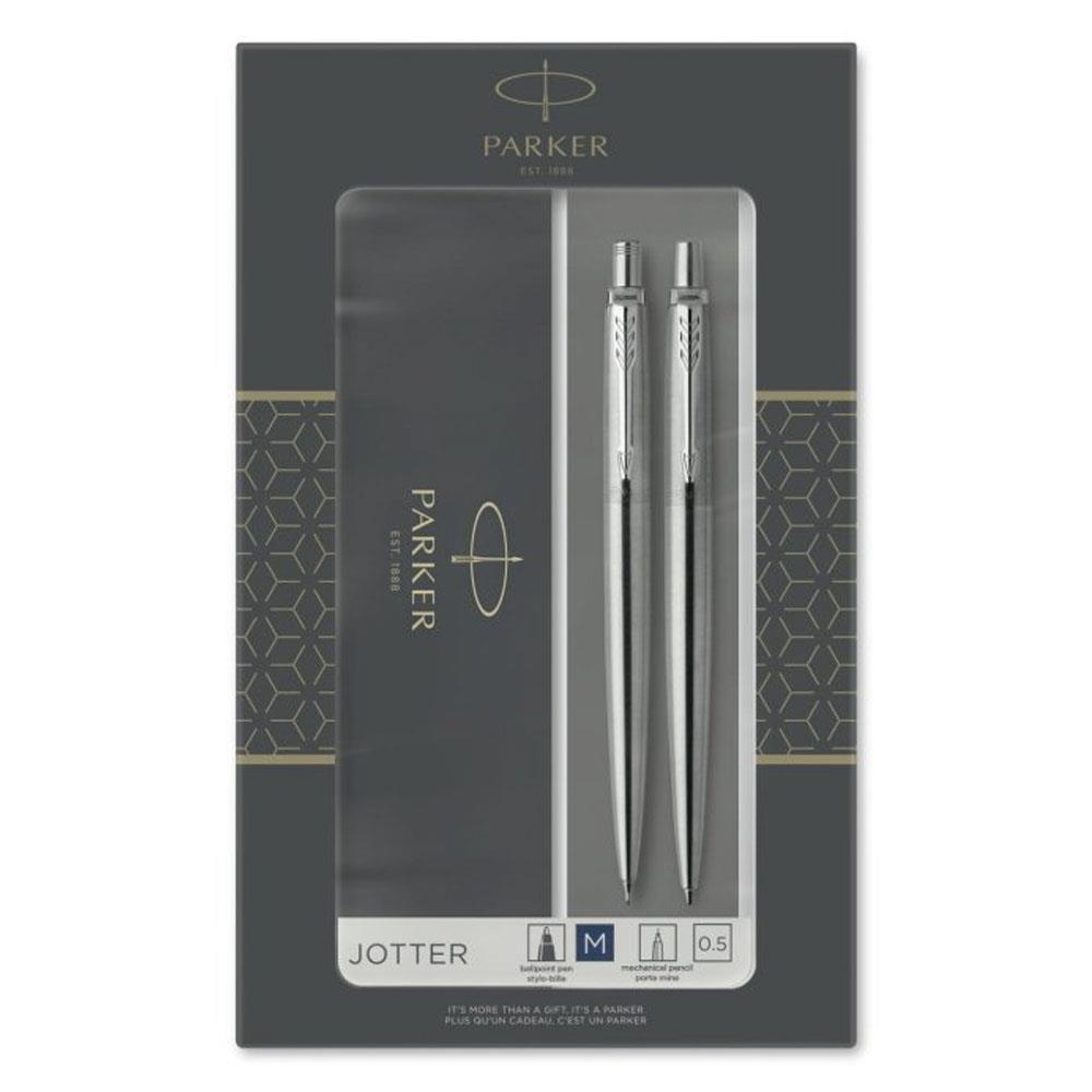 Σετ Parker Jotter Steel CT στυλό & μολύβι