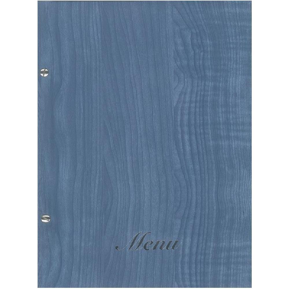 Κατάλογος εστιατορίου Α4 με βίδες γαλάζιο ξύλου μενού