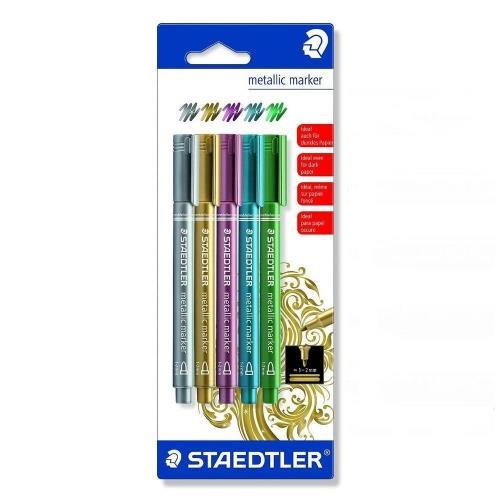 Μαρκαδόροι Staedtler Metallic 8323-S σετ 5τεμ.