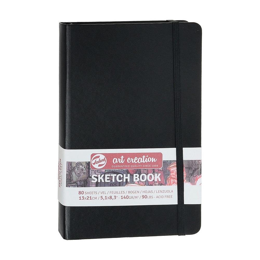 Σημειωματάριο 13x21cm Talens black 80φ sketchbook
