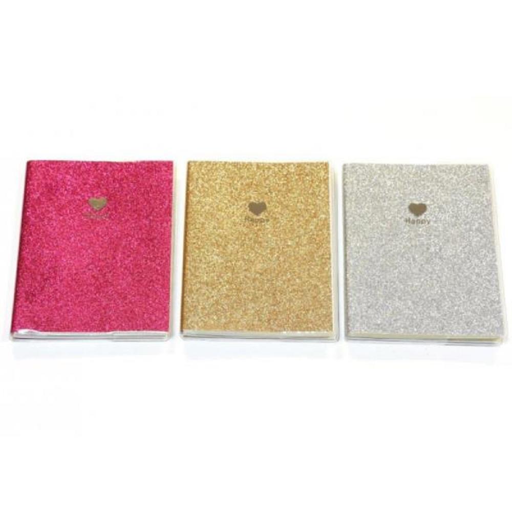 Σημειωματάριο Crystal 7x10,5 χρυσόσκονη