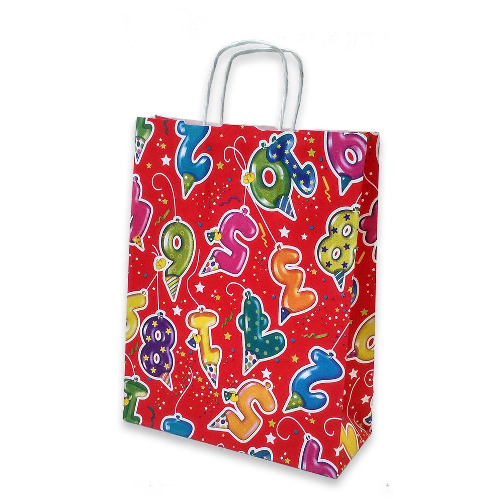 Τσάντα χάρτινη Bolis παιδική 24x10x31 cm κόκκινη