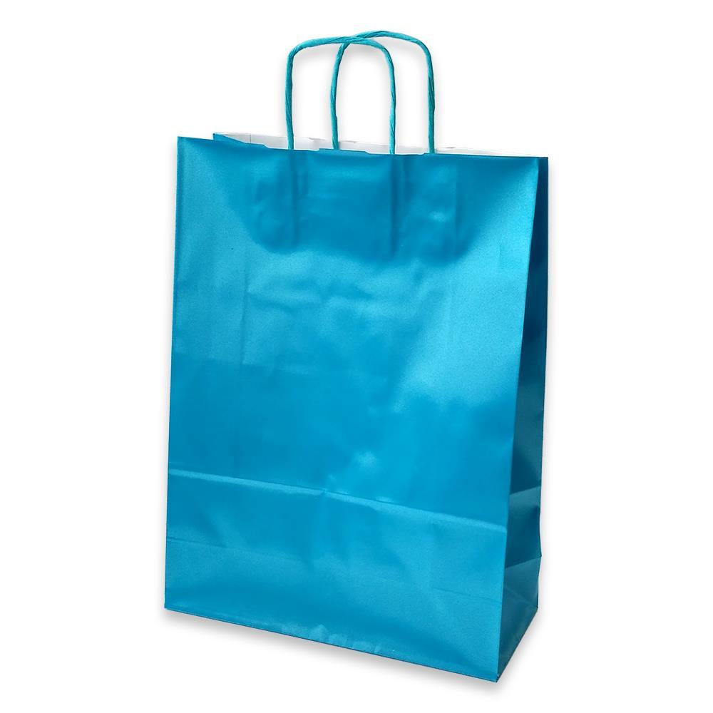 Τσάντα χάρτινη Bolis περλέ 27x11x36 cm βεραμάν