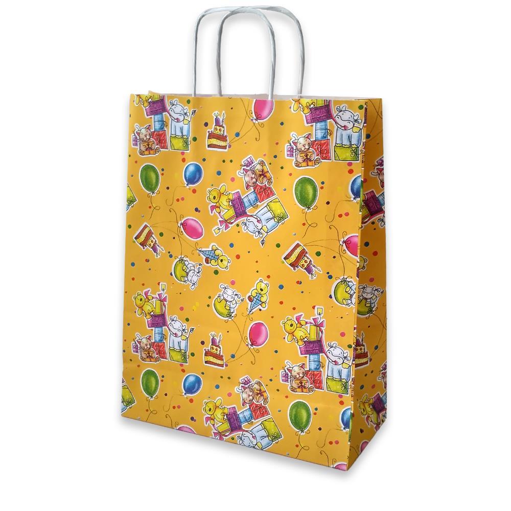 Τσάντα χάρτινη Bolis παιδική 24x10x31 cm κίτρινη