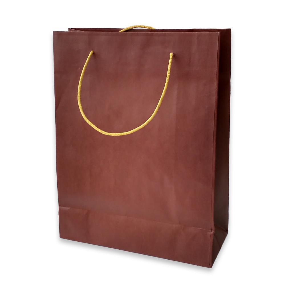 Τσάντα χάρτινη Bolis 24x10x31 cm καφέ
