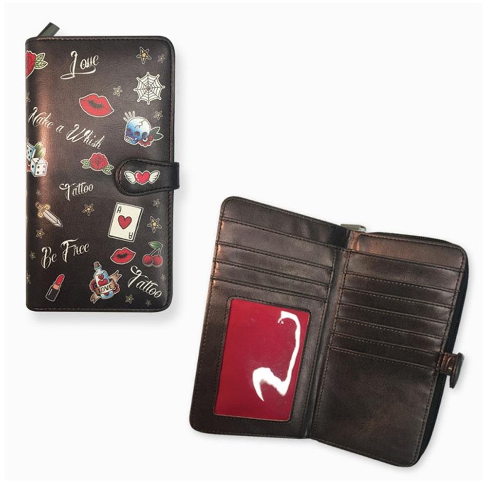 Πορτοφόλι με θήκες tattoo 19x10x2,8 cm Ediglam