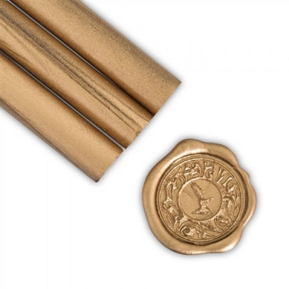 Βουλοκέρι στρογγυλό χρυσό αντικέ 1 τεμάχιο