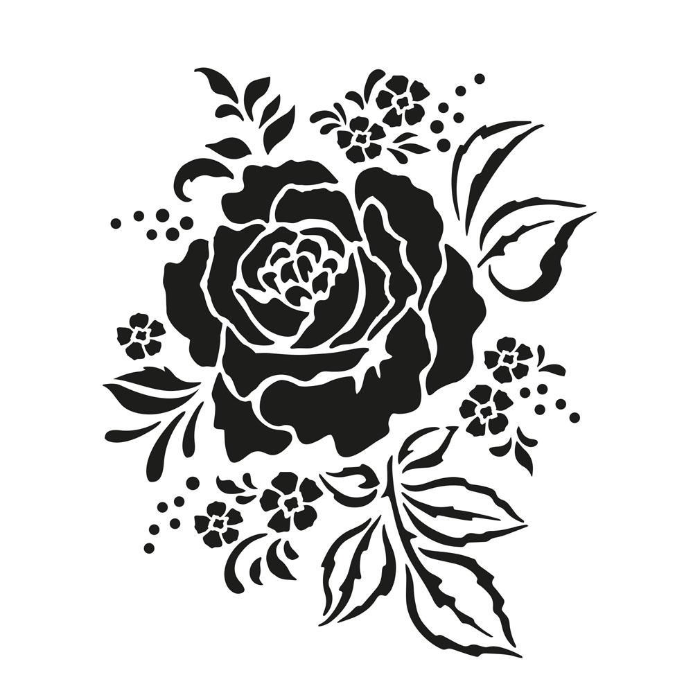 Στένσιλ Efco Α4 rose arrangment