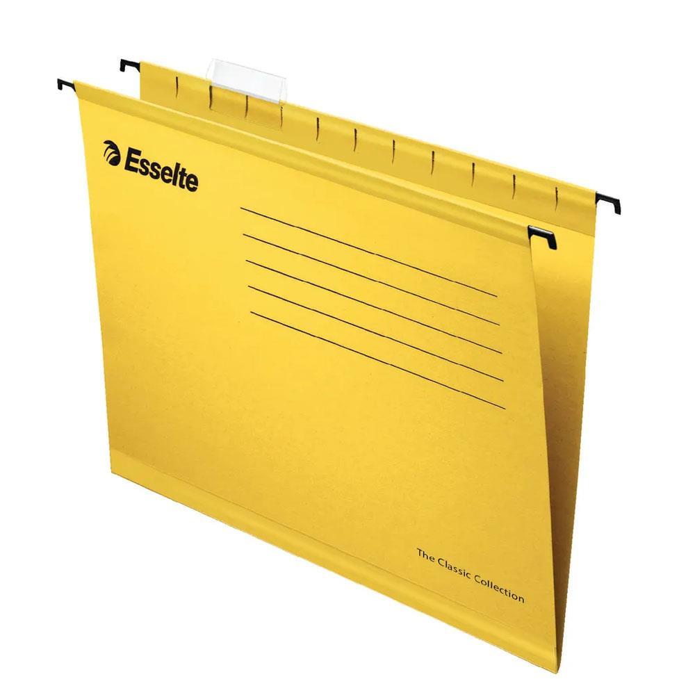 Κρεμαστά φάκελα Esselte 9033 F/C κίτρινα