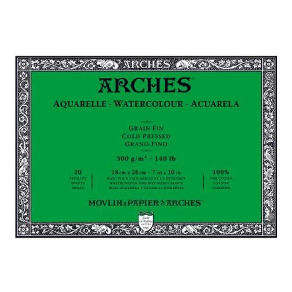 Μπλοκ Arches cold pressed 18x26 cm 300 gr 20 φύλλα