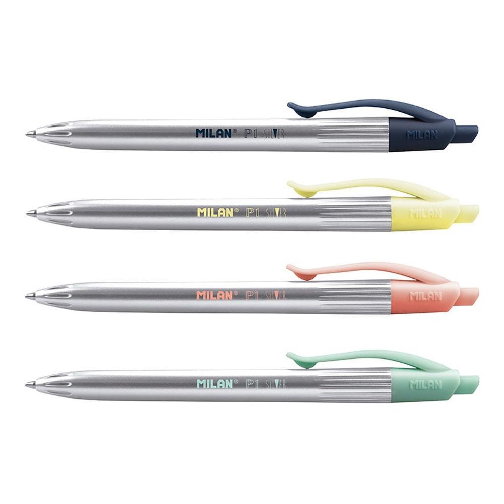 Στυλό Milan P1 Silver μπλε