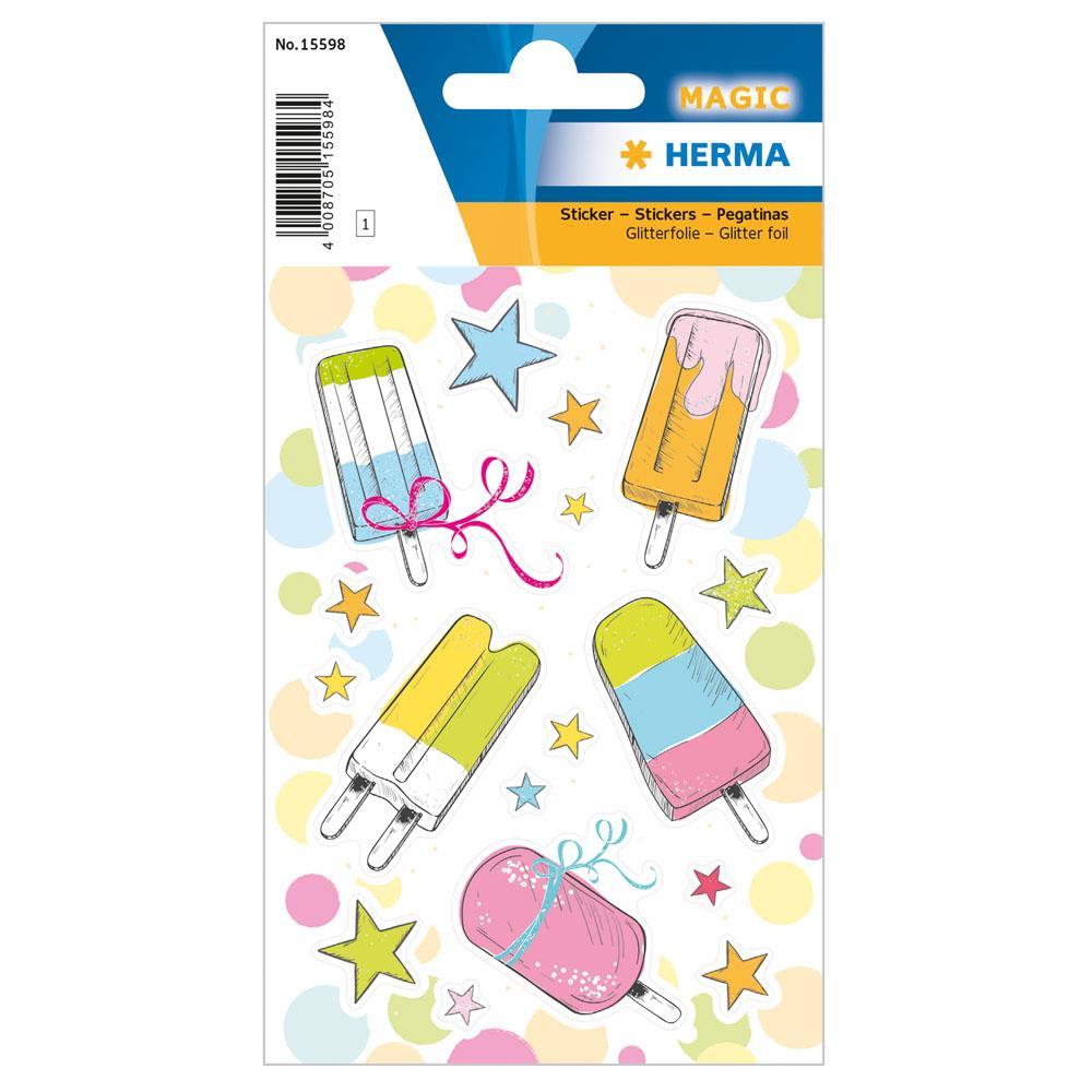 Αυτοκόλλητα Herma Magic 15598 popsicle with shiny glittery