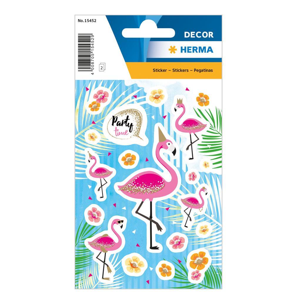 Αυτοκόλλητα Herma Decor 15452 flamingo party time