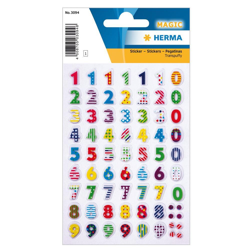 Αυτοκόλλητα Herma Magic 3094 colourful numbers