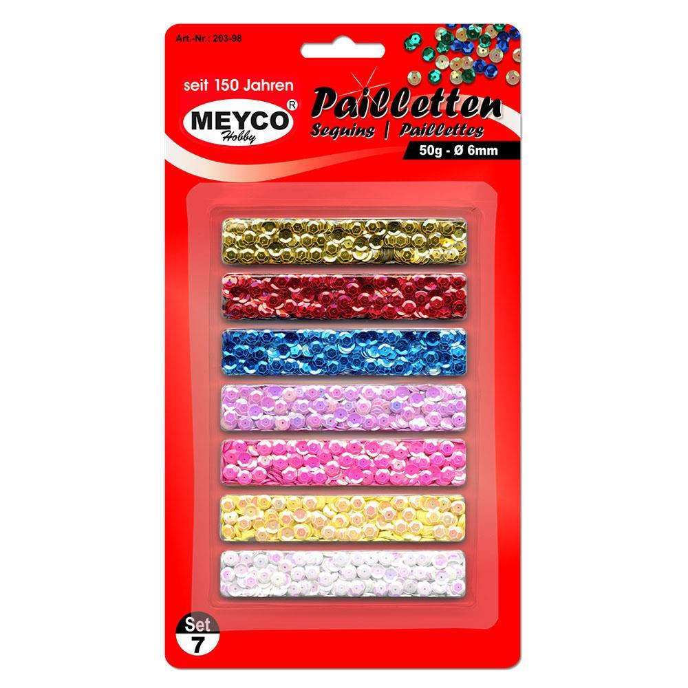 Πούλιες Meyco σετ 7 χρώματα 6mm 50gr 203-98