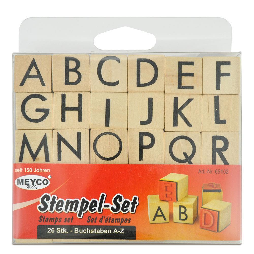 Σφραγίδες αλφάβητο Meyco σετ 26 τεμ 65102