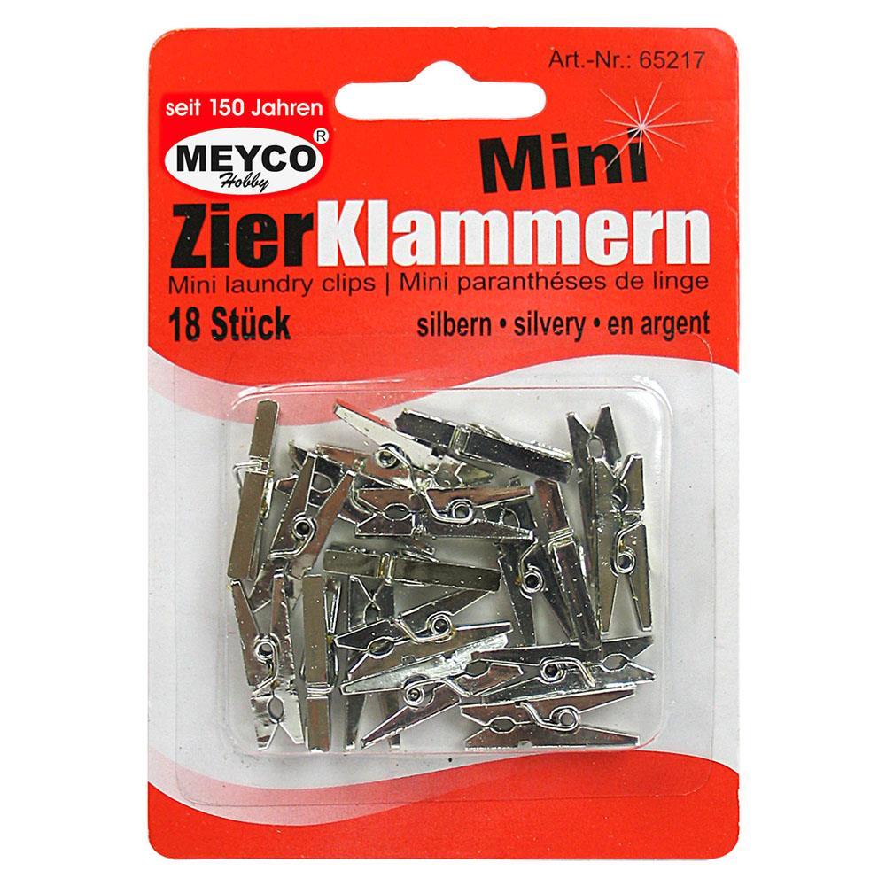 Μανταλάκια Meyco 25 mm 18 τεμ ασημί 65217