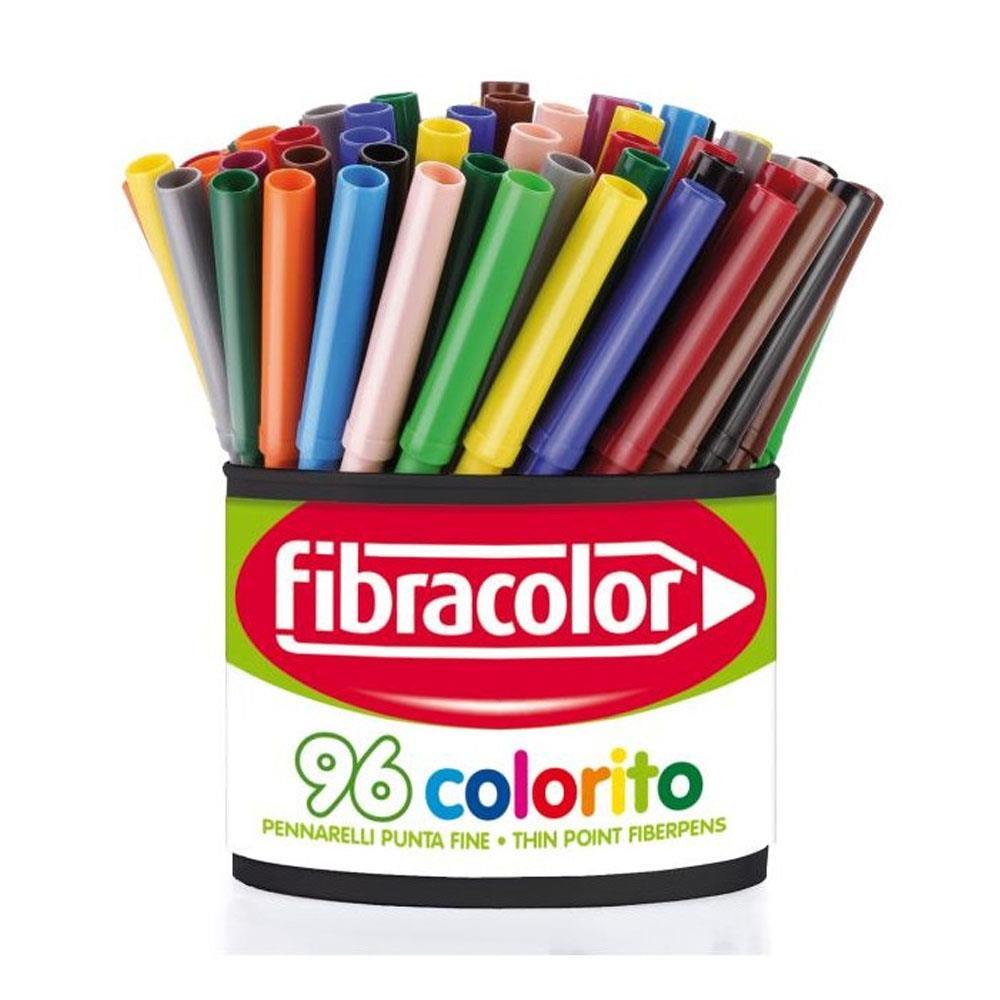 Μαρκαδόροι Fibracolor θήκη 96τεμ.