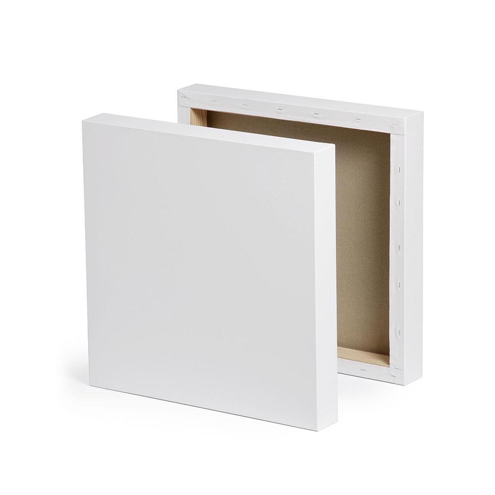 Τελάρο χονδρό box 10x10 cm με βαμβακερό καμβά