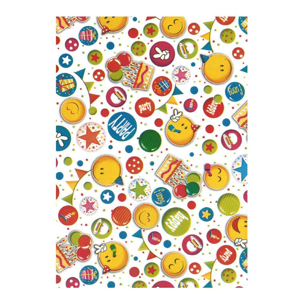 Χαρτί δώρου bolis 70 x100 cm Playtime whitesmile