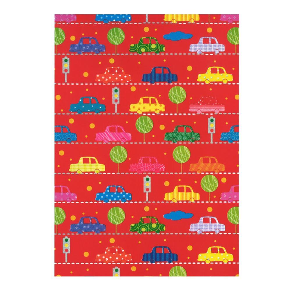 Χαρτί δώρου bolis 70 x100 cm Playtime redcars