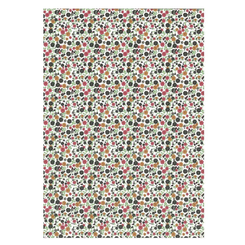 Χαρτί δώρου bolis 70 x100 cm Flowers smallblack