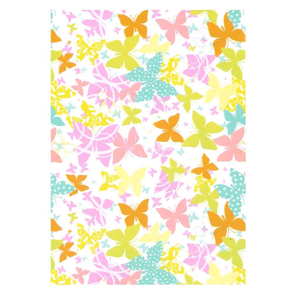 Χαρτί δώρου bolis 70 x100 cm Flowers pinkbutterflies