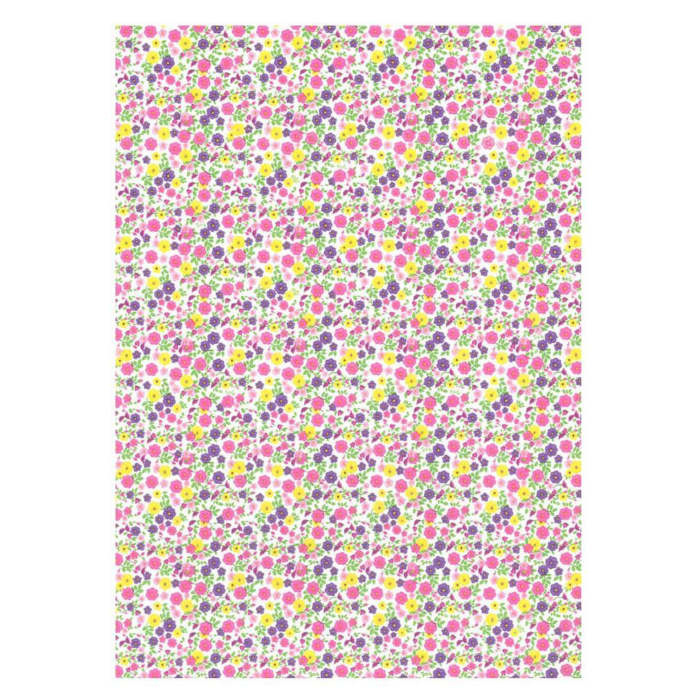 Χαρτί δώρου bolis 70 x100 cm Flowers smallpink