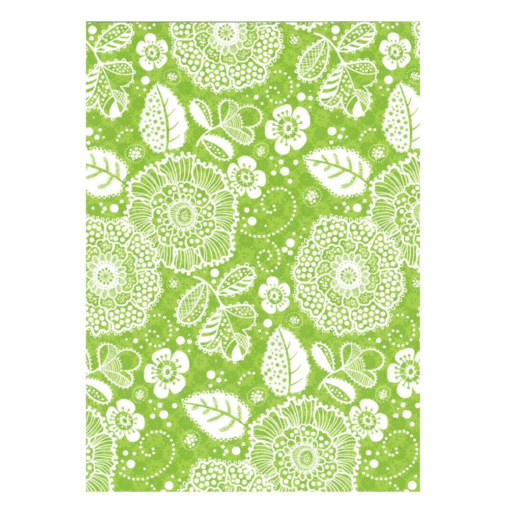Χαρτί δώρου bolis 70 x100 cm Flowers green
