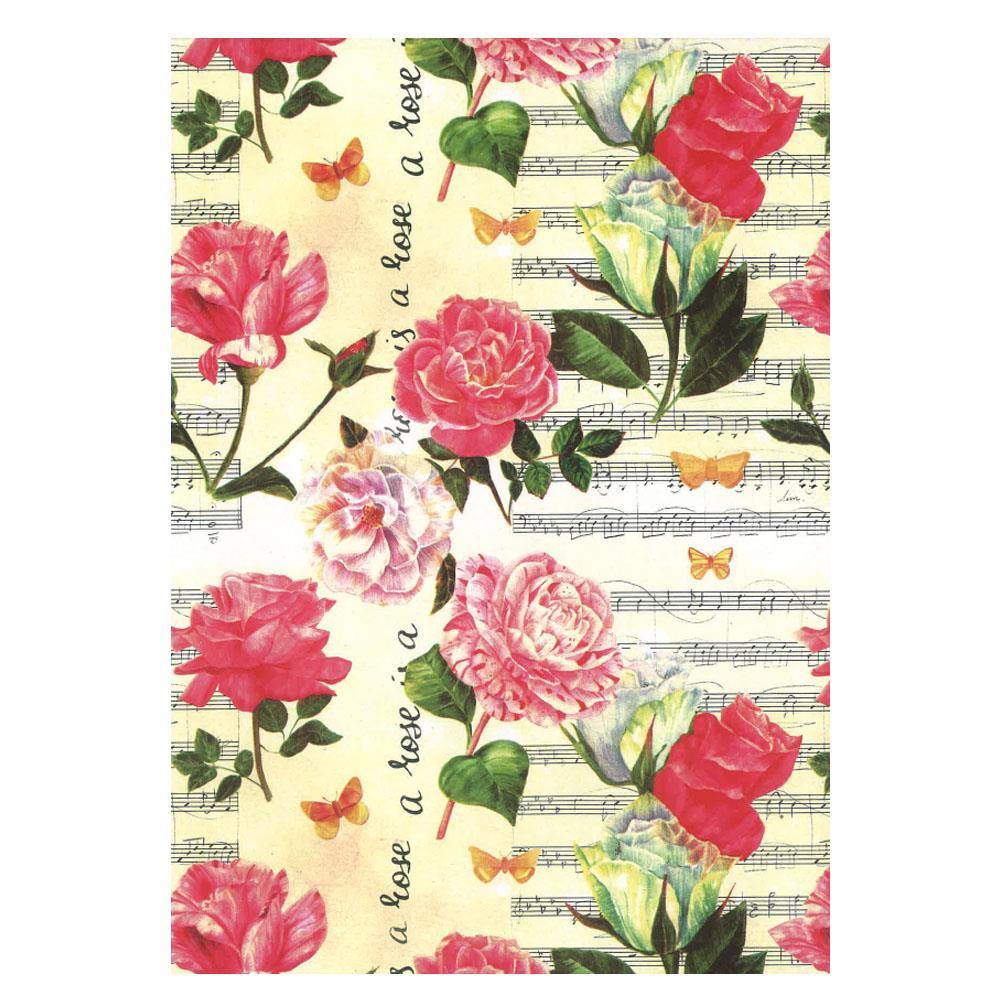 Χαρτί δώρου bolis 70 x100 cm Flowers roses