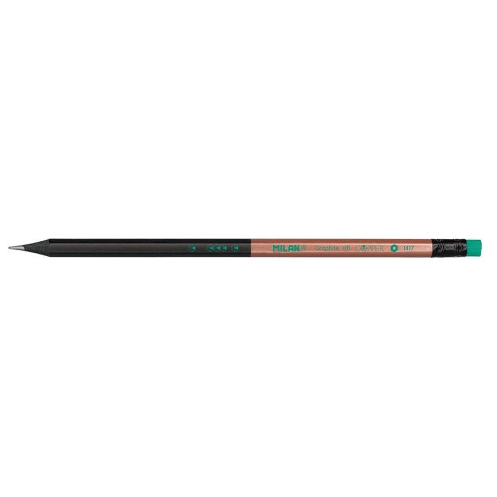 Μολύβι Milan 714148 ΗΒ με πράσινη γόμα