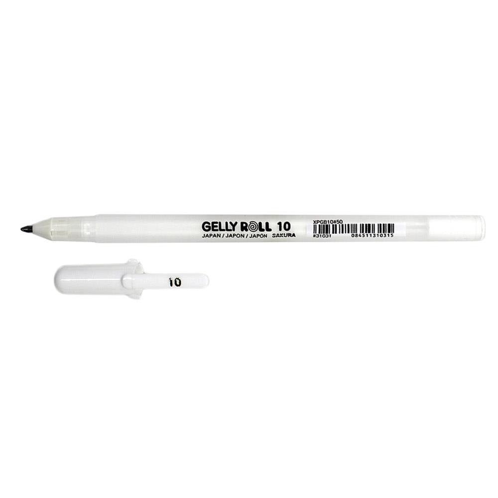 Στυλό Sakura Gelly Roll 10 λευκό 0,5 mm bold