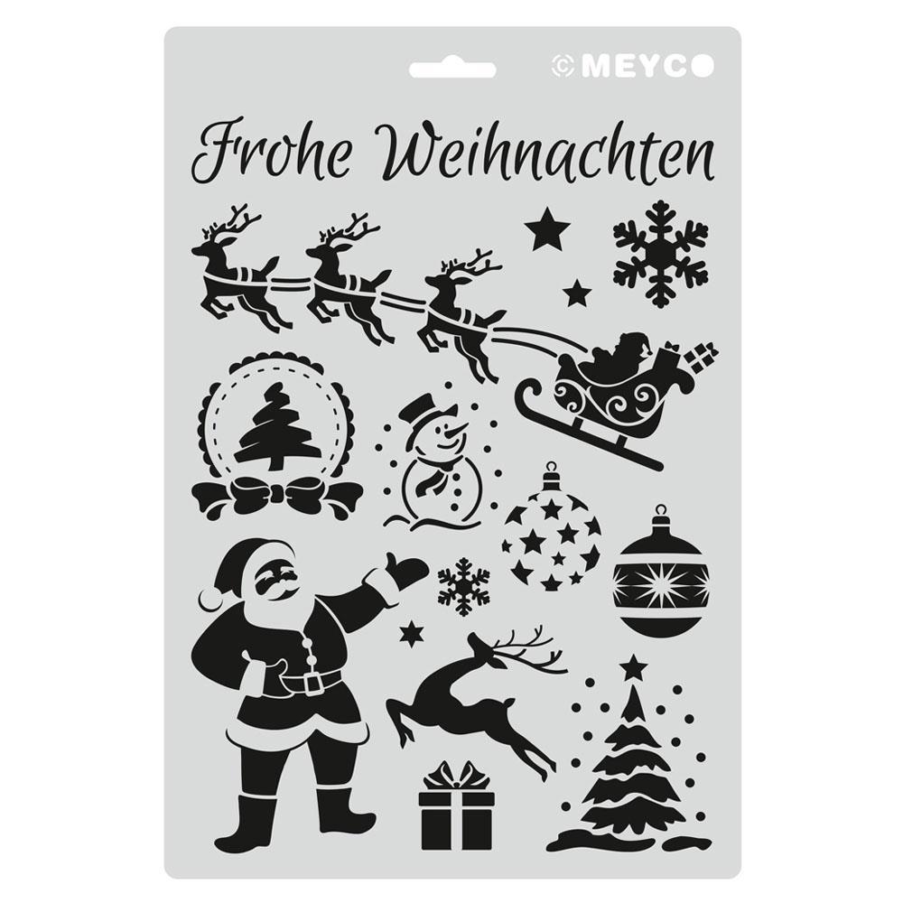 Στένσιλ Meyco Α4 χριστούγεννα 66055