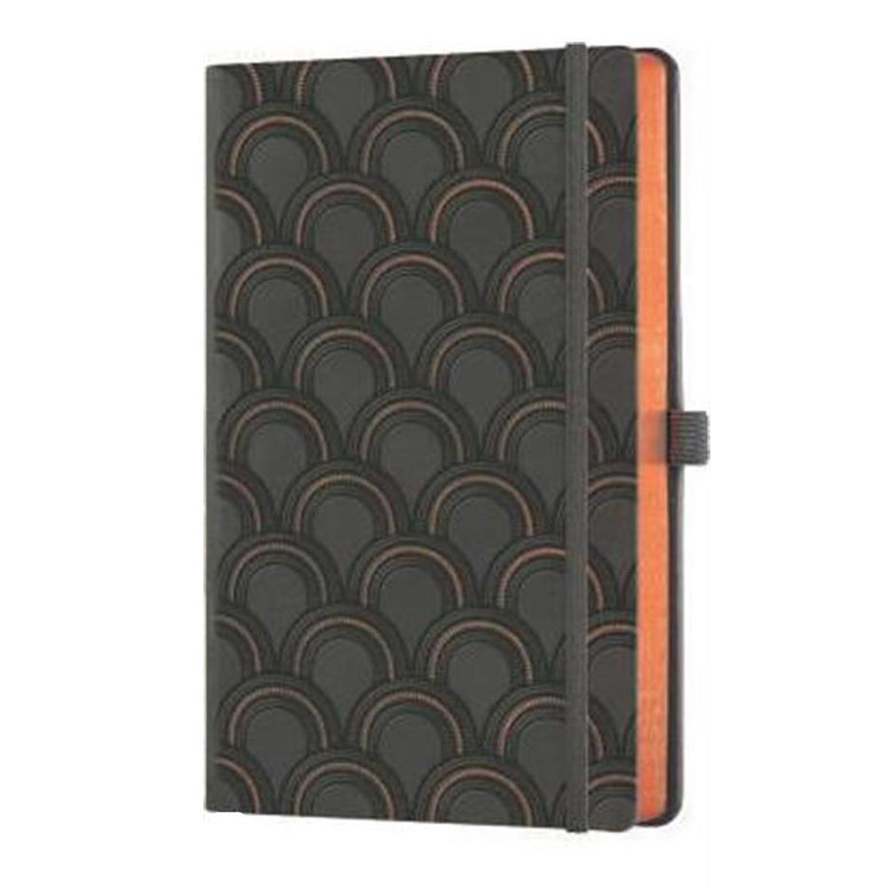 Σημειωματάριο 13x21 cm Castelli ριγέ C&G art deco copper