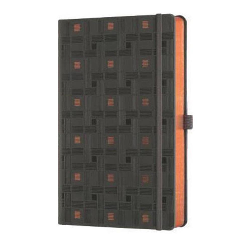 Σημειωματάριο 13x21 cm Castelli ριγέ C&G weaving copper