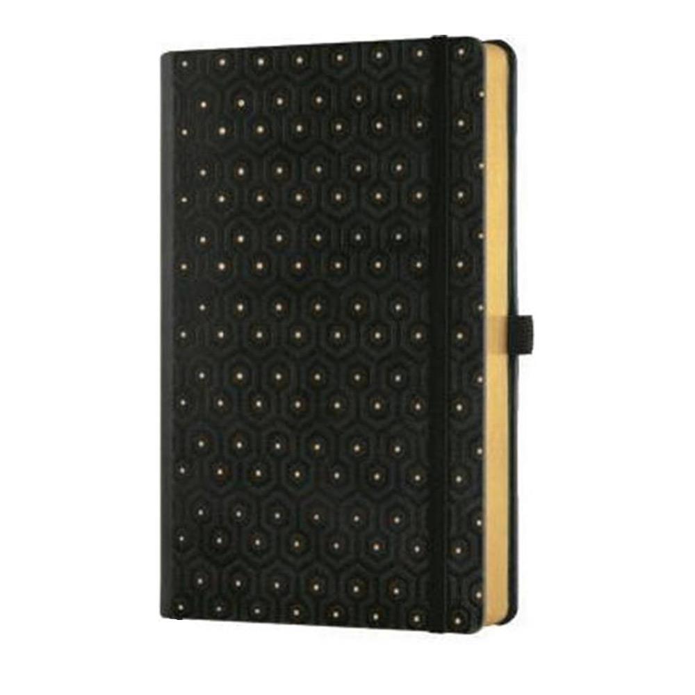 Σημειωματάριο 13x21 cm Castelli ριγέ C&G honey gold