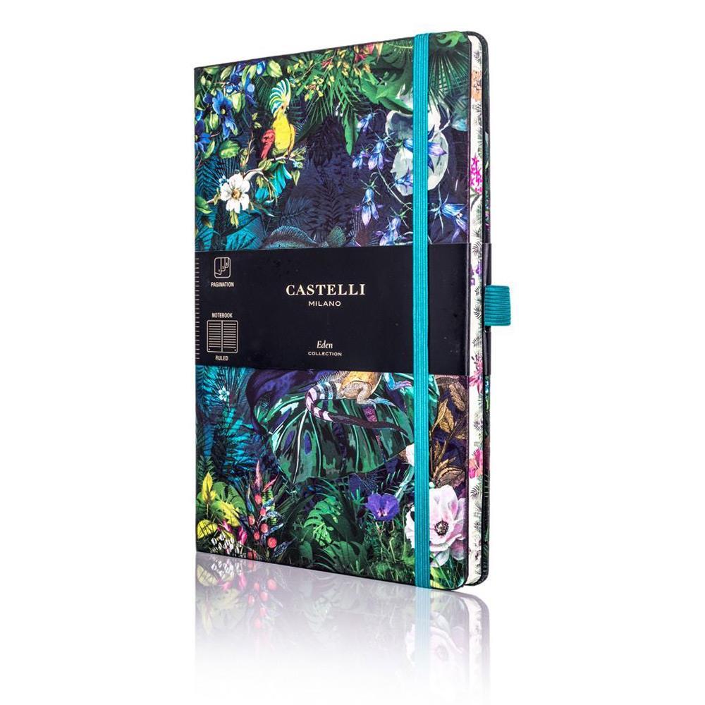 Σημειωματάριο 13x21 cm Castelli ριγέ Eden lily