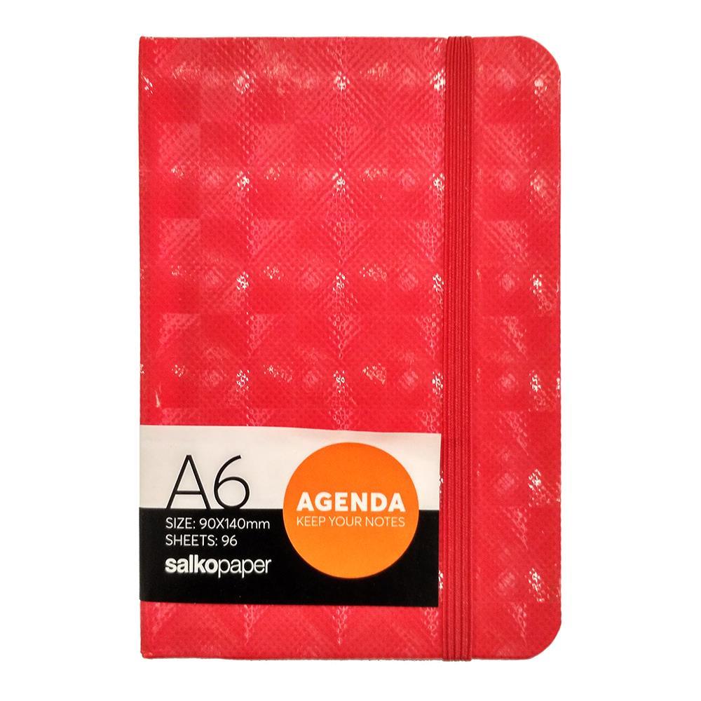 Σημειωματάριο 9x14 Salko Agenda 96φ κόκκινο