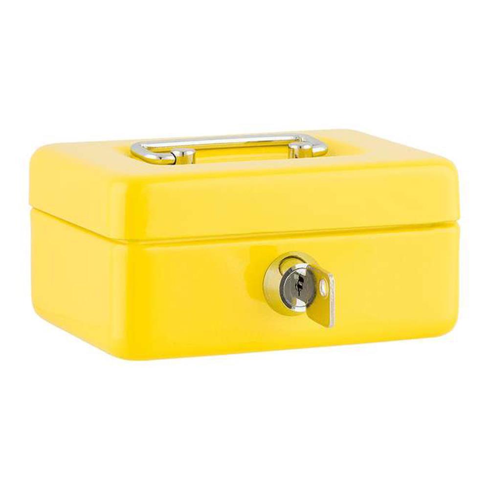 Χρηματοκιβώτιο Sax 12,5x9,5x6,2 cm κίτρινο