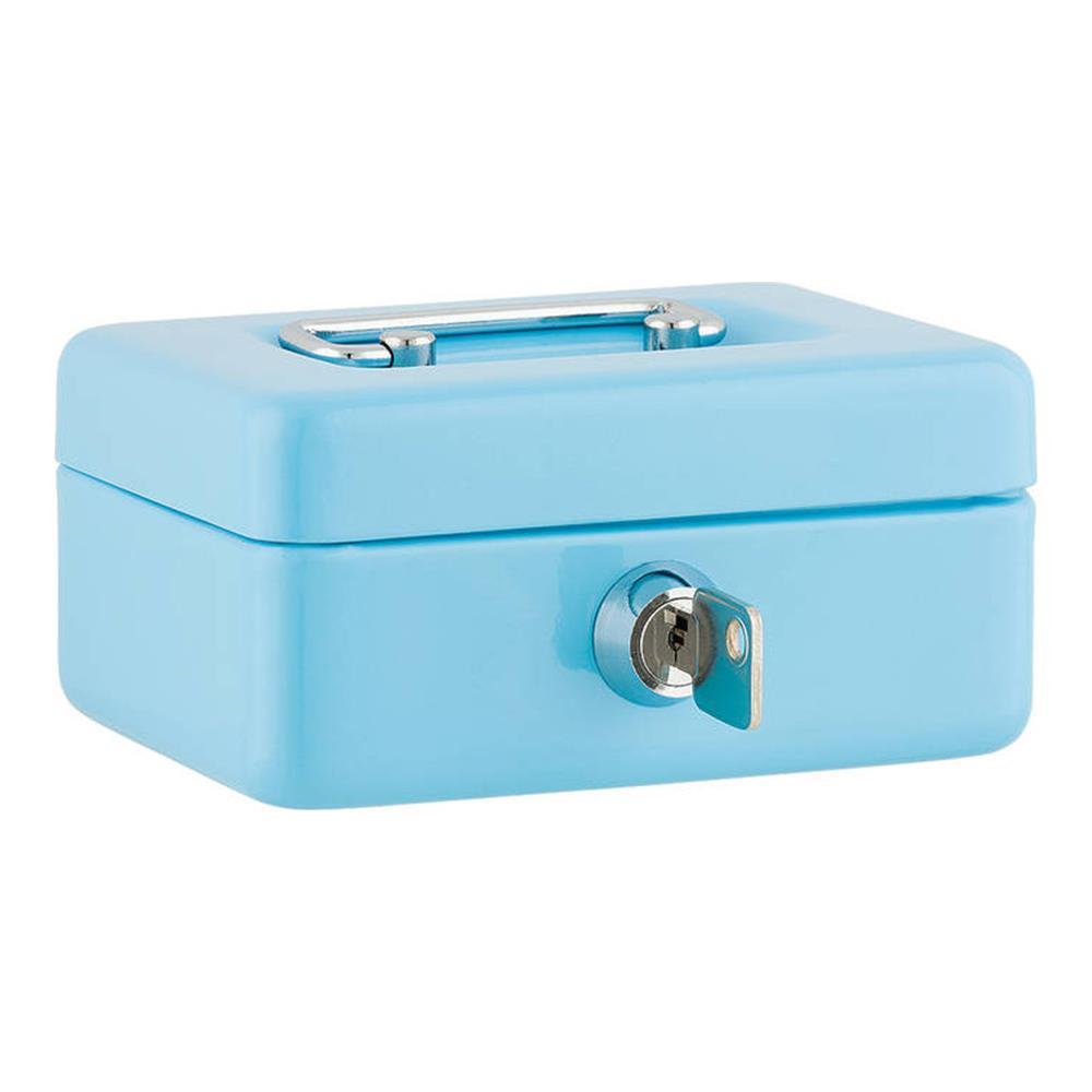 Χρηματοκιβώτιο Sax 12,5x9,5x6,2 cm γαλάζιο