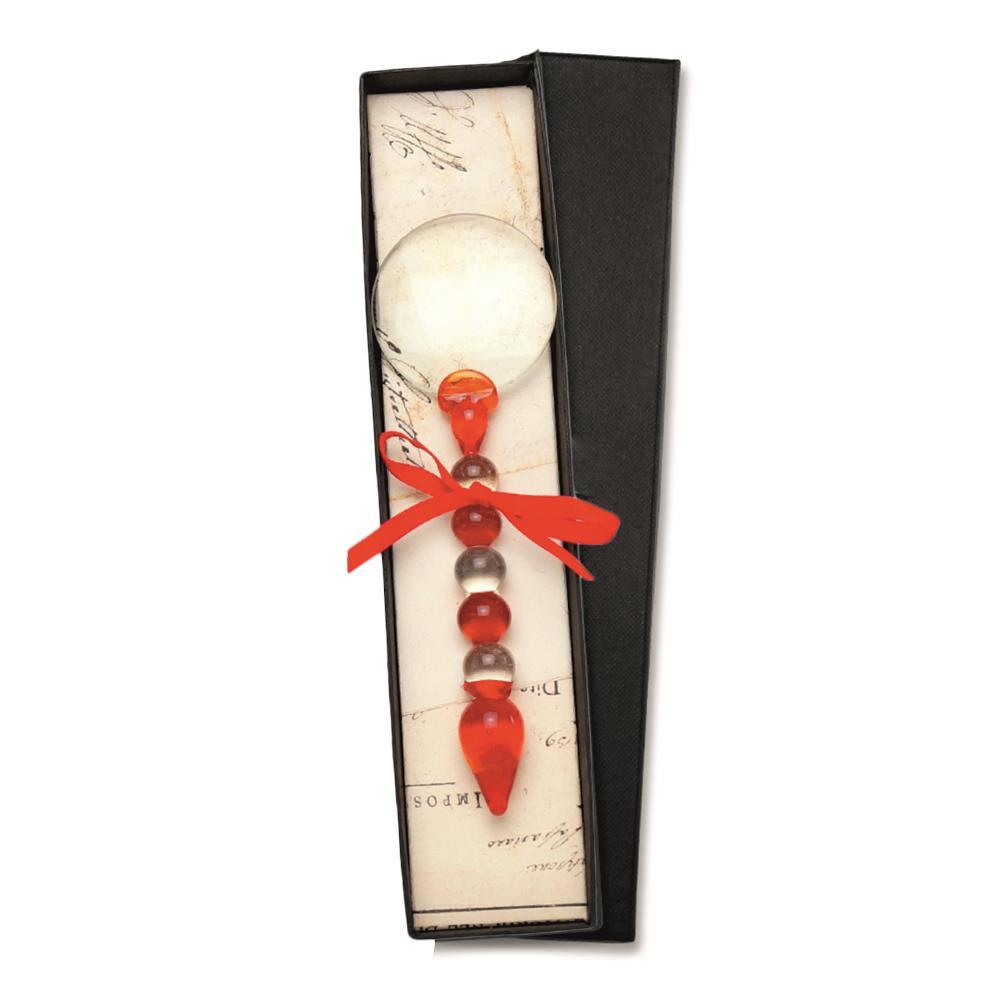 Μεγεθυντικός φακός γυάλινος Νο5 Rubinato κόκκινο