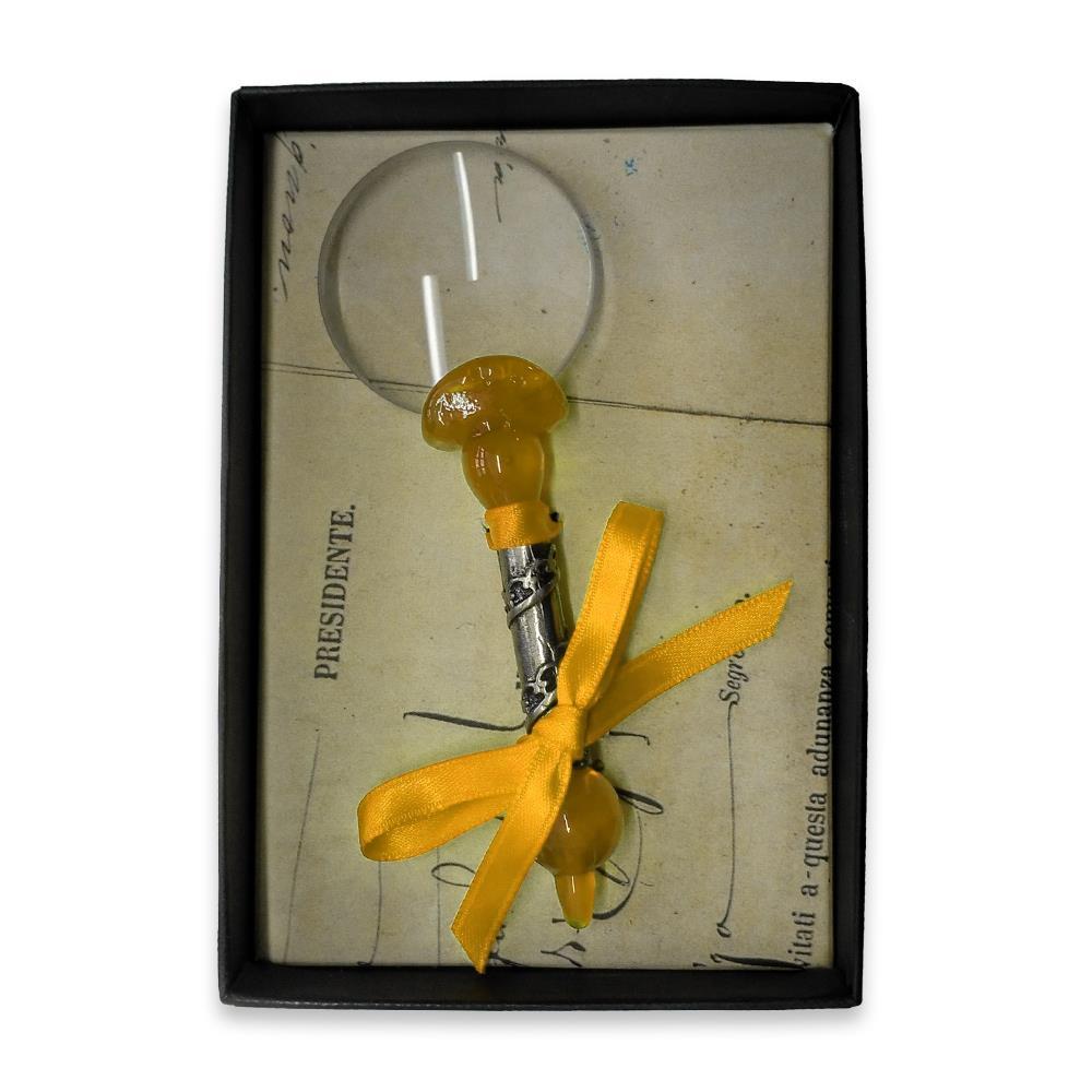 Μεγεθυντικός φακός γυάλινος Νο3 Rubinato κίτρινο