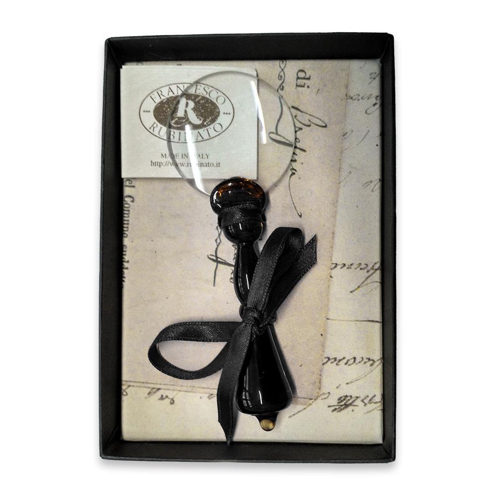 Μεγεθυντικός φακός γυάλινος Νο4 Rubinato μαύρο