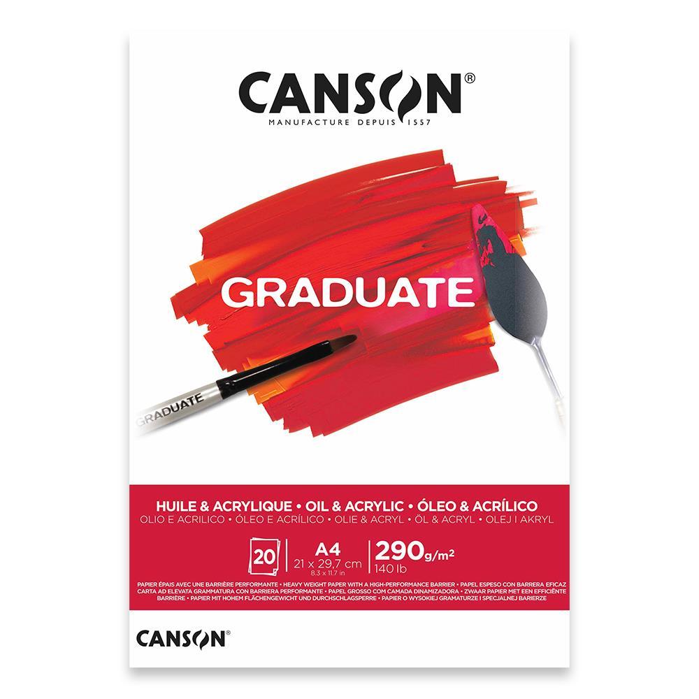Μπλοκ καμβά Canson Graduate Oil-Acrylic 290gr Α4 20 φύλλα