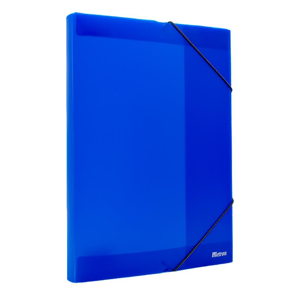 Κουτί λάστιχο Metron 25x35x3cm διάφανο μπλε