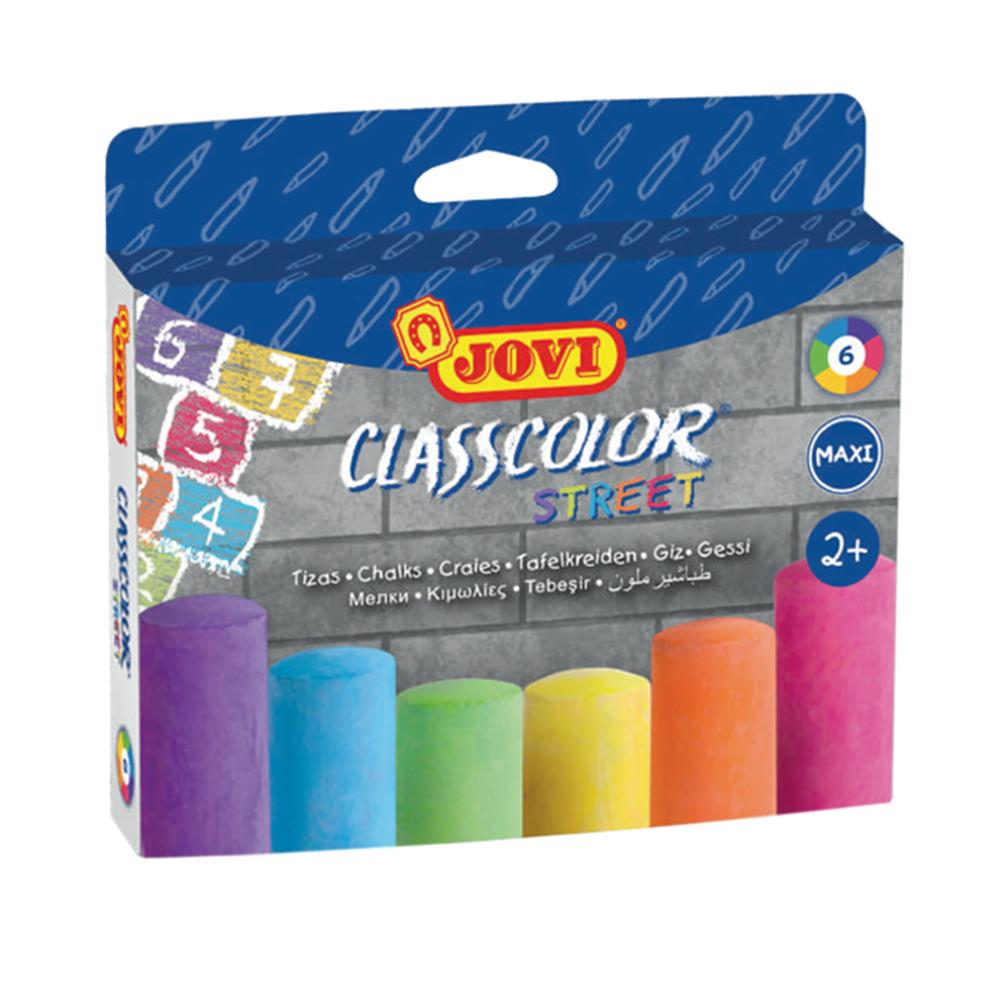 Κιμωλίες χρωματιστές μεγάλες Jovi maxi 6 τεμ