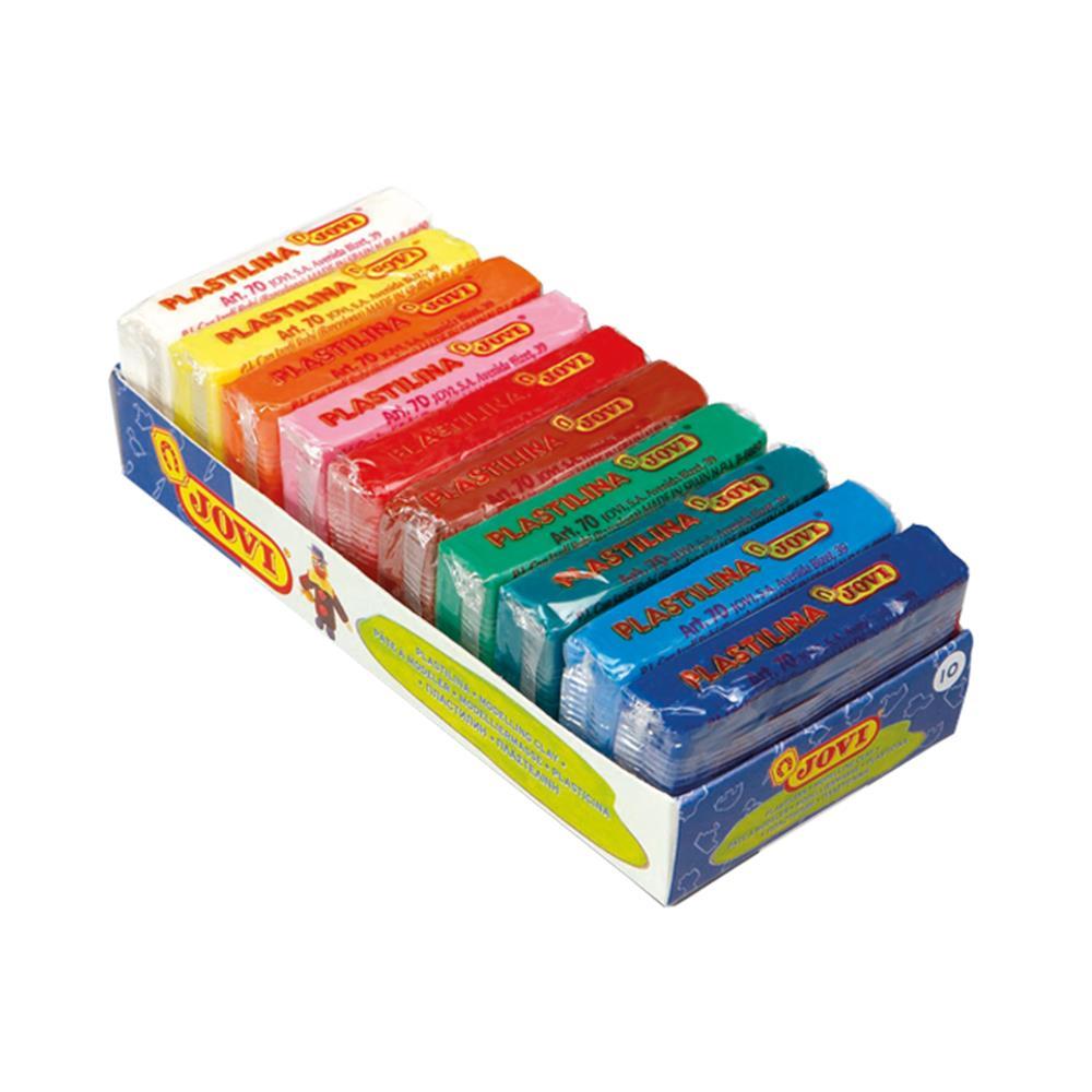 Πλαστελίνη Jovi κουτί 10 τεμάχια x50 gr