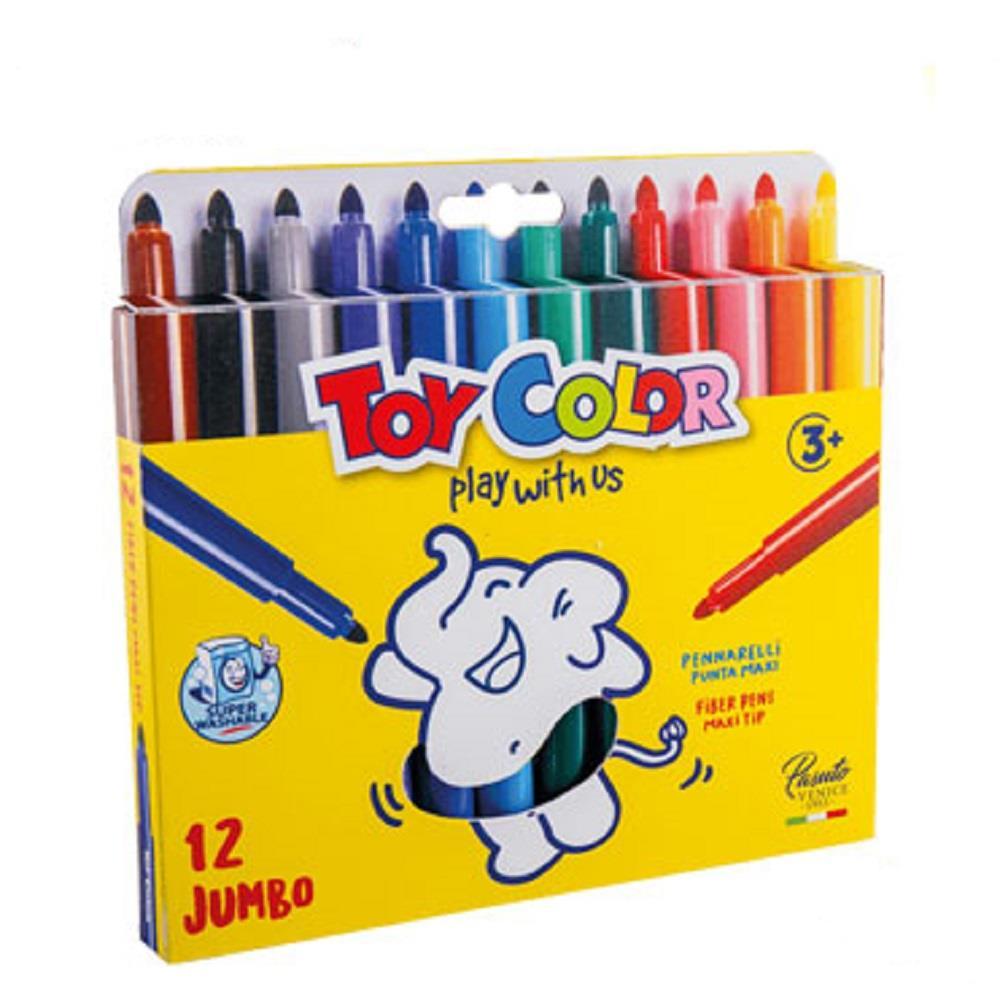Μαρκαδόροι Toy Color Jumbo χοντροί 12 τεμ.