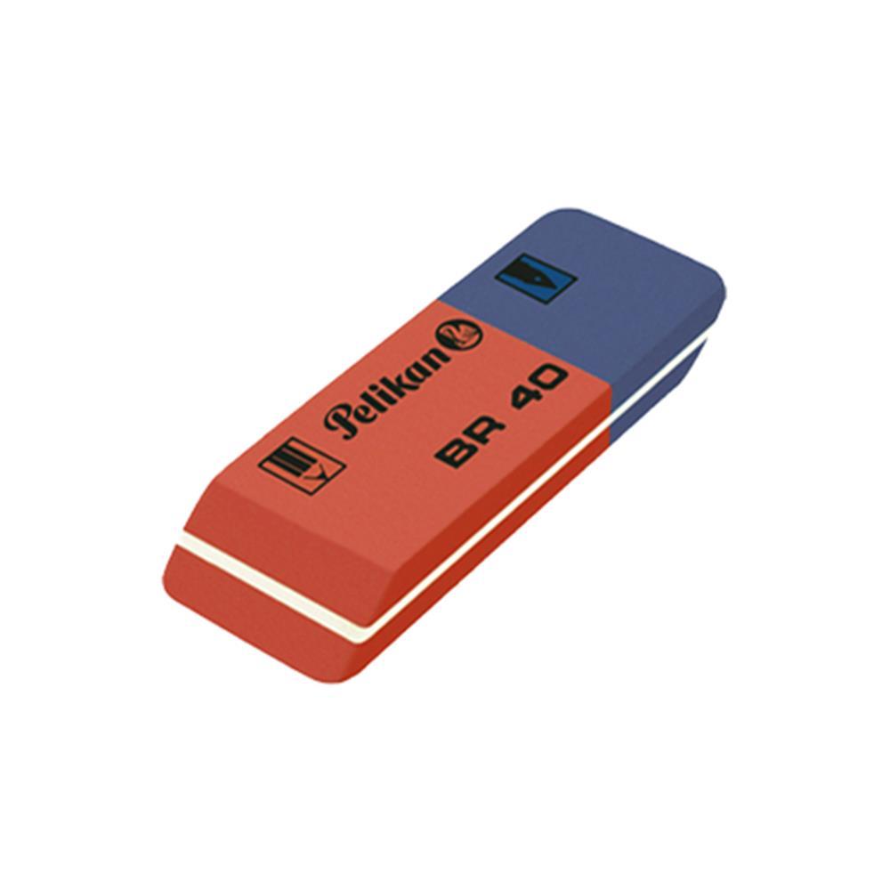 Γόμα Pelikan BR-40 μπλε-κόκκινη μεγάλη
